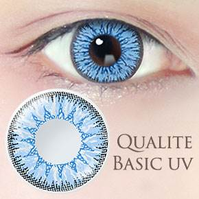 QUALITE 1day UV Basic シエルブルー(6枚,PWR 0.00~-8.00)