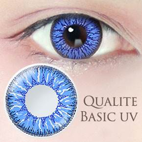 QUALITE 1day UV Basic ブルーウォーター(6枚,PWR 0.00~-8.00)