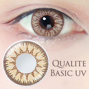 QUALITE 1day UV Basic マロンヘーゼル(6枚,PWR 0.00~-8.00)