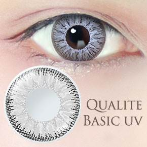 QUALITE 1day UV Basic ピュアグレー(6枚,PWR  0.00~-8.00)
