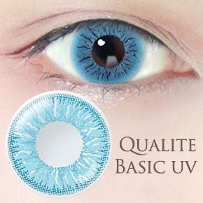 QUALITE 1day UV Basic スノーブルー(6枚,PWR 0.00~-8.00)